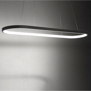 Image 5 - Пост современный светодиодный подиумный подвесной светильник Aureole для столовой, кухни, стола, подвесных светильников 2,4G с пультом дистанционного управления
