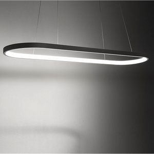 Image 5 - Post Modern LED Chandelier Runway Aureole Pendant Lamp  Dining room Kitchen Table Suspension Luminaires 2.4G Remote Control