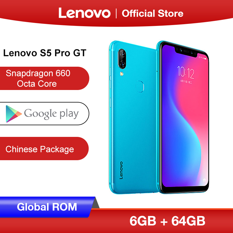 Global ROM Lenovo S5 Pro GT 6GB 64GB  Snapdragon 660 Octa Core Smartphone 20MP Quad Cameras 6.2 inch Octa Core 4G LTE Phone|Cellphones|Cellphones & Telecommunications - title=