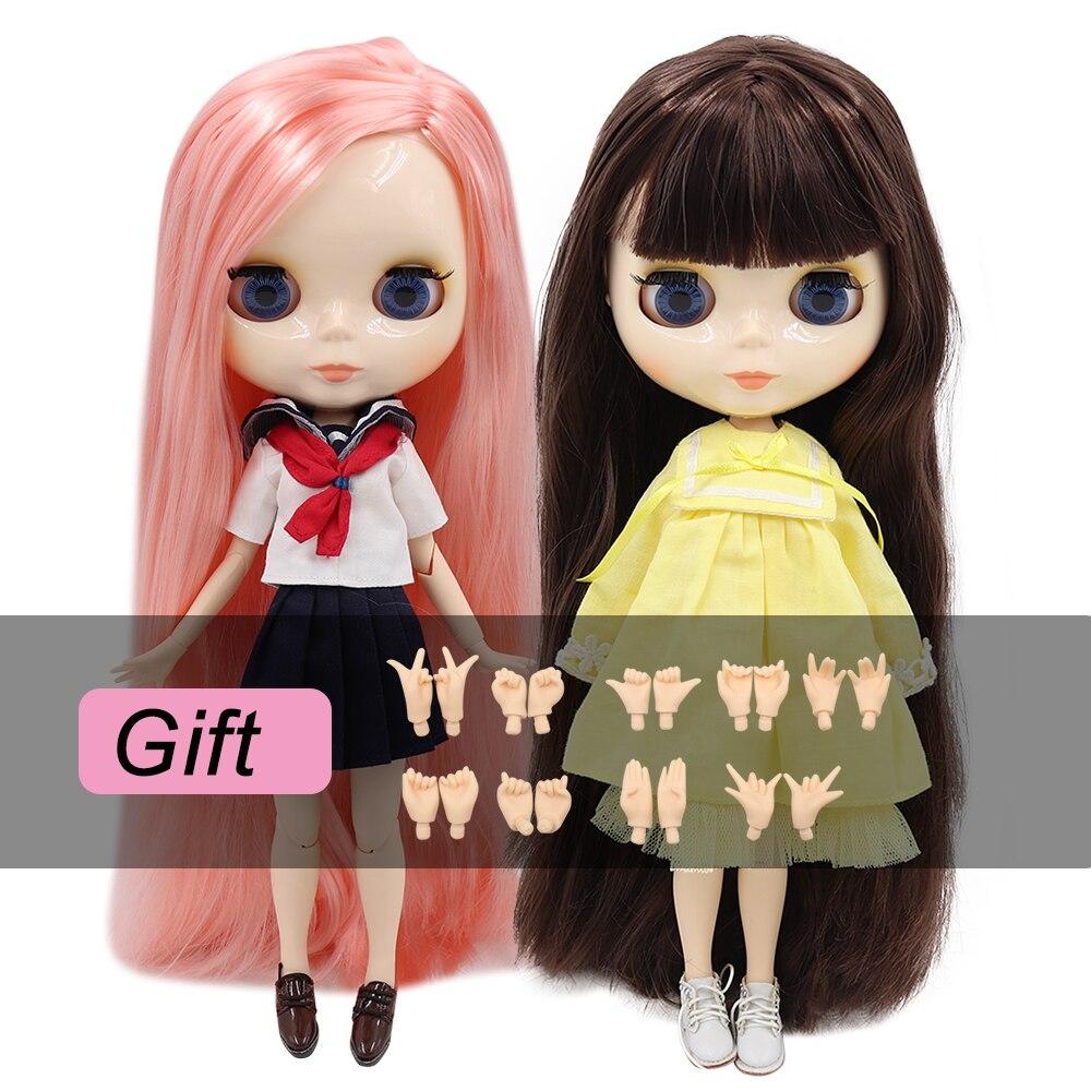 Ледяная кукла DBS Blyth шарнирная кукла bjd игрушка шарнирное тело белая кожа блестящее лицо 30 см 1/6 в продаже специальное предложение