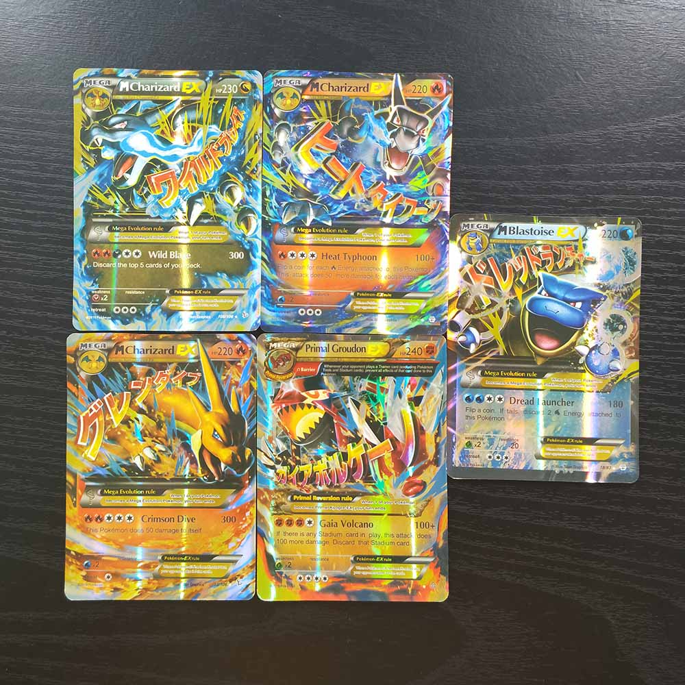 TAKARA TOMY Collections Battle Shining Card Board Game Children Toys Gifts Pokemon Cards 100pcs Flash Cards 94 GX 6 Trainer
