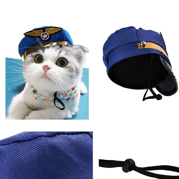 Camisa de Marinero Cachorro Feliz con Sombrero Azul marino Pequeño