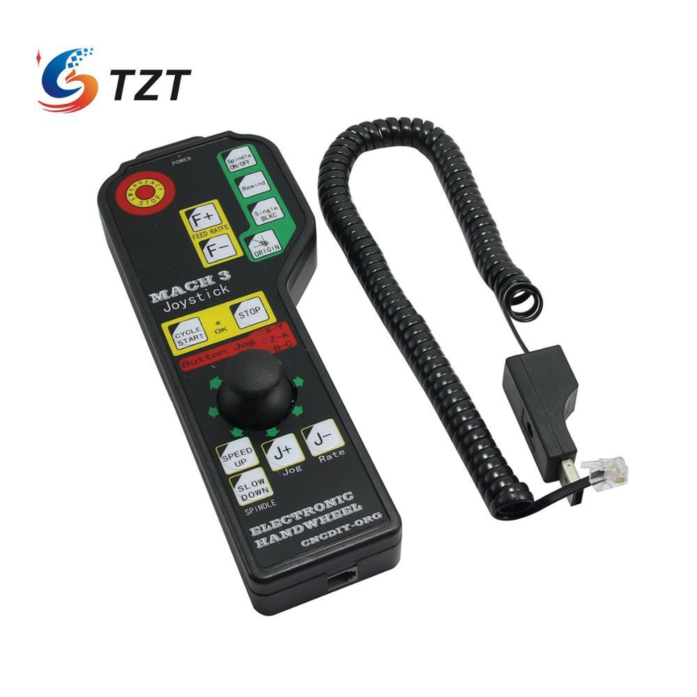TZT Mach3 6 осевой USB джойстик рокер Ручной Электронный маховик для станка с ЧПУ