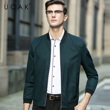 UCAK Brand Men Clothing Streetwear Clothes jacket Solid Color Blouson Homme Casual Jackets Spring New Arrival Zipper Coat U8069
