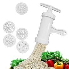1PC Noodles Machine Noodles Hand-crank Pressing Maker Manual Noodle Maker Spaghetti Press Tube With 5 Templates Kitchen Supplies