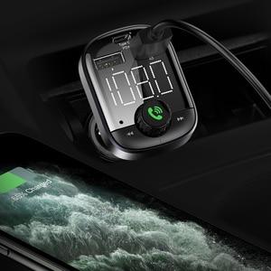 Image 5 - FLOVEME PD 3,0 Bluetooth Drahtlose Schnelle Auto Ladegerät Für Telefon 18W 3,0 EIN Auto Telefon Ladegerät Digitale FM Transmitter MP3 Musik Player