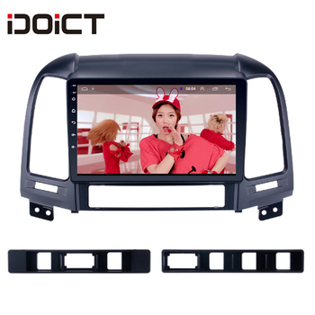 IDOICT Android 8.1 Car DVD Player GPS Navigation Multimedia For Hyundai Santa FE Radio 2006-2012 car stereo wifi BT image