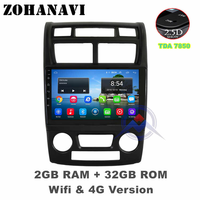ZOHANAVI 2.5D Android car radio multimedia player for KIA sportage 2007 2008 2009 2010 2011 audio radio stereo DVD gps