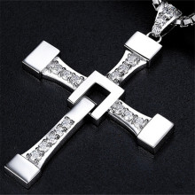 FAST and FURIOUS Dominic Toretto's Cross S925 Silver Pendant Necklace Big Size Pendant for Men Christmas Gift