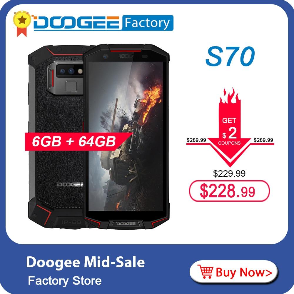 DOOGEE S70 Face ID IP68 IP69K Octa Core Smartphone 16MP Camera 5 99 FHD Screen 6GB
