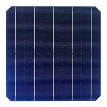 100Pcs 5.35W 0.5V 21.8% Effciency Grade A 156 * 156MM Photovoltaic Mono Monocrystalline Silicon Solar Cell 6x6 For Solar Panel