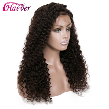 Haever Deep Wave Wigs Lace Front Human Hair Wigs 13X4 Pre Plucked Malaysian Remy Natural Virgin New Hair Wig For Black Women 180