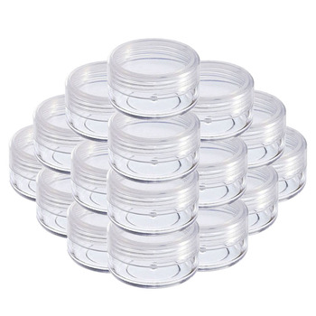 20Pcs 2g 3g 5g 10g 15g 20g Portable Plastic Cosmetic Empty Jars Clear Bottles Eyeshadow Makeup Cream Lip Balm Container Pots - discount item  29% OFF Skin Care Tool