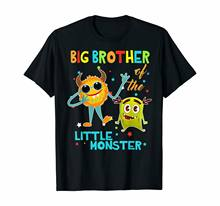 Big Brother Of The Little Monster Birthday Shirts(China)