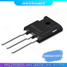 (2 pces) diodos 60a 100 v do retificador da barreira de mbr60100pt schottky a-247 60 ampères 100 volts mbr60100 pt