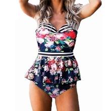 Bademode Frauen Bikini 2020 Mujer Backless Badeanzüge Push Up Bikinis Schwimmen Anzug Plus Größe Tankinis Badeanzüge Biquini XXL