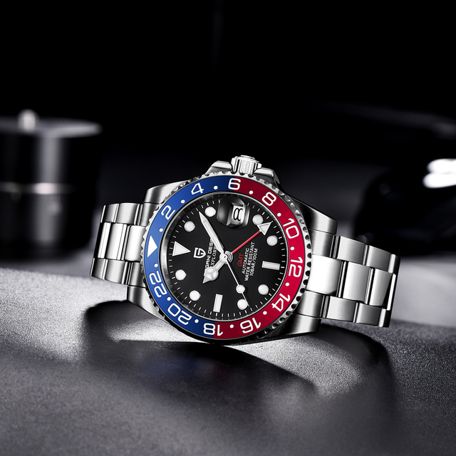 PAGANI DESIGN Sapphire Glass 40MM Ceramic GMT Mechanical Watches 100m Waterproof Classic Fashion Luxury Automatic Watch 5