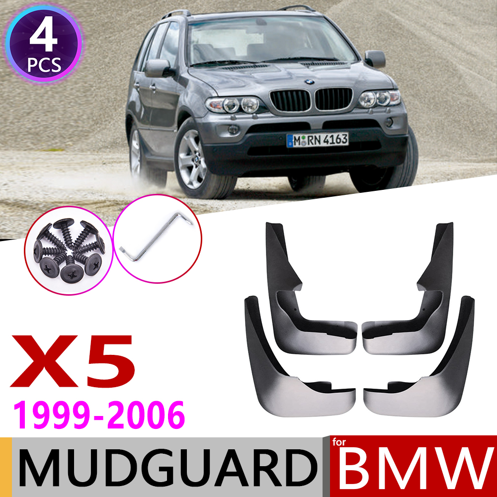 Car Mudflaps For BMW X5 E53 1999~2006 Fender Mud Flaps Guard Splash Flap Mudguards Accessories 2000 2001 2002 2003 2004 2005