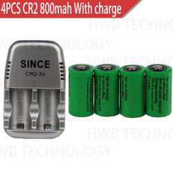 HOT NEW CR2+charger 800mah 15270 3v Rechargeable lithium battery(4 battery +1charger)