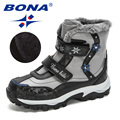 BONA 2020 Neue Ankunft Winter Mid-Kalb Plüsch Schnee Stiefel Kinder Outdoor Langlebig Stiefel Kinder Anti-Slip Hohe top Mädchen Jungen Schuhe
