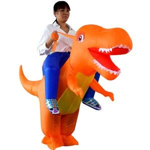 Image 4 - Надувной костюм динозавра дракона для взрослых и детей, маскарадный костюм T Rex на Хэллоуин, детские костюмы динозавра Пурим