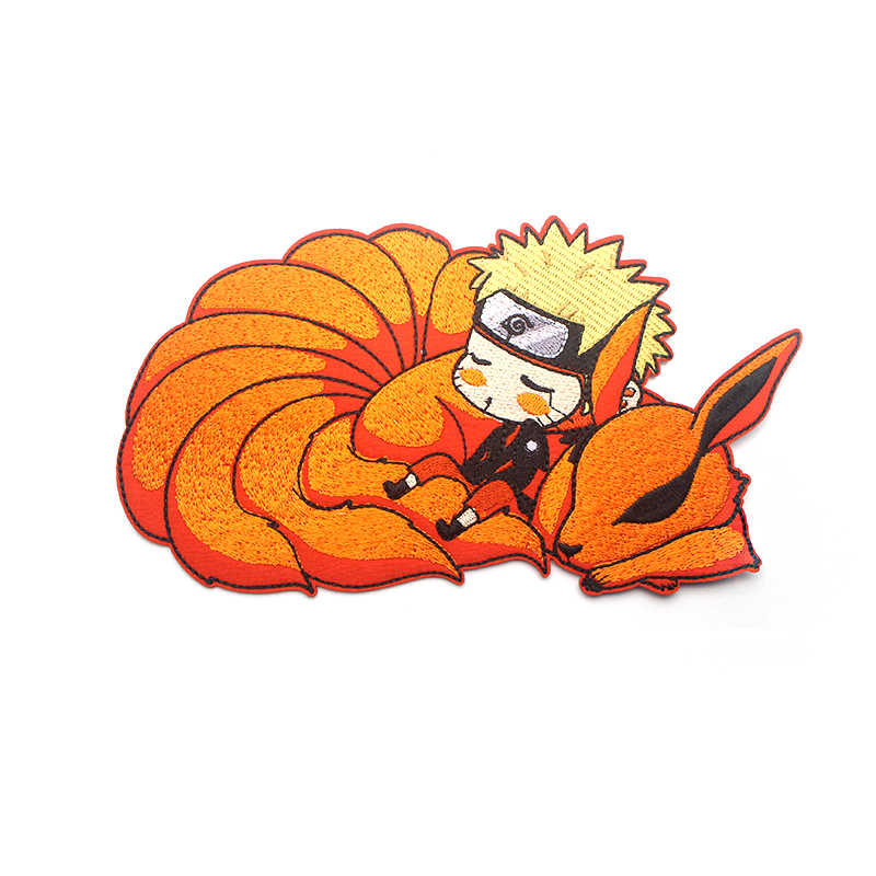 NARUTO Cartoon Ijzer op Patch Kleding Para DIY Geborduurde Badges Naaien Applique Patchwork Sticker Decoratie voor jongen mannen E0591