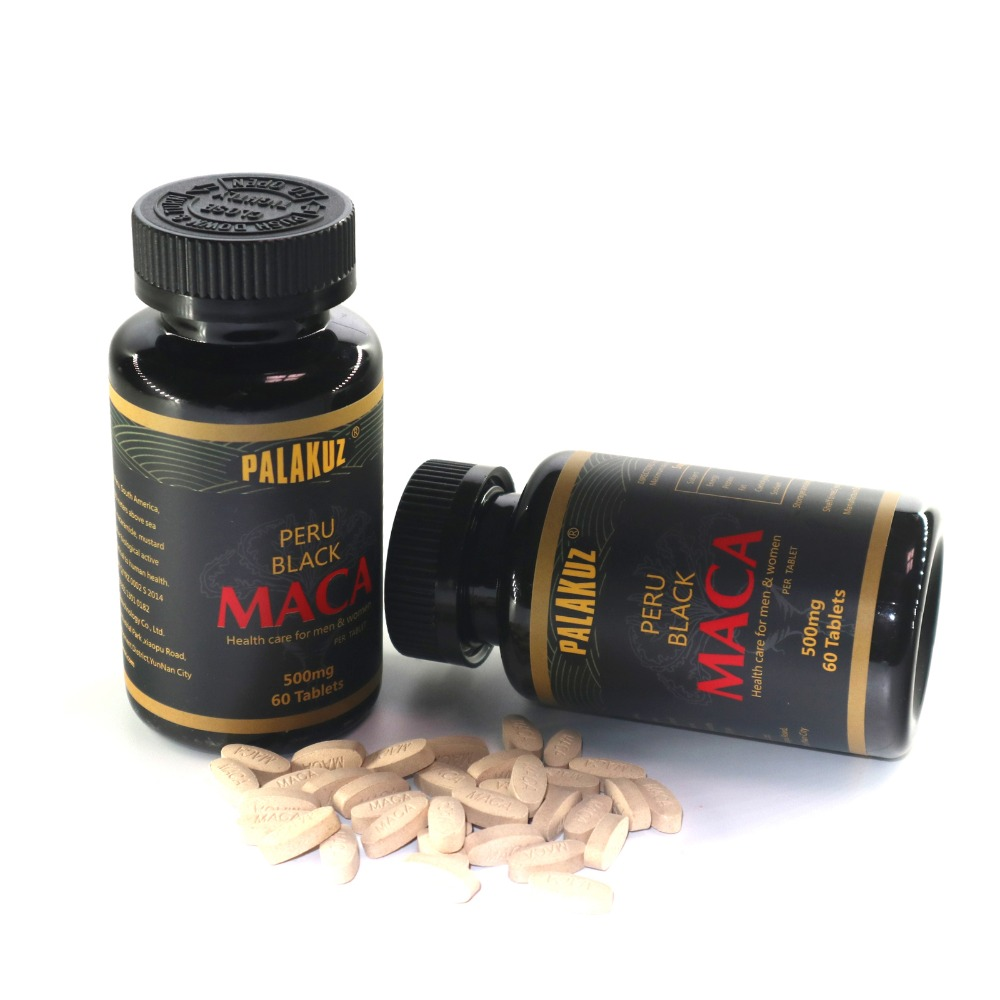 2 Bottles,Pure Black Maca Root Extracts For Healthy Energy Personal Care Both For Men & Women