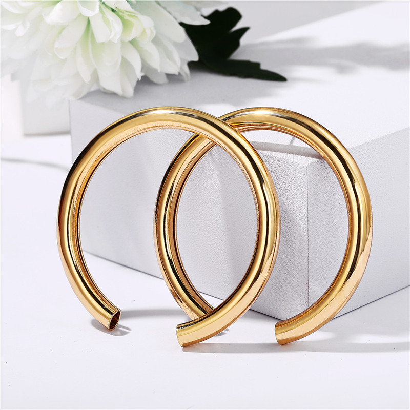 17KM Vintage Round Metal Earrings For Women Fashion Geometric Big Stud Earrings Cricle Gold Earring Female Gift 19 Jewelry 9