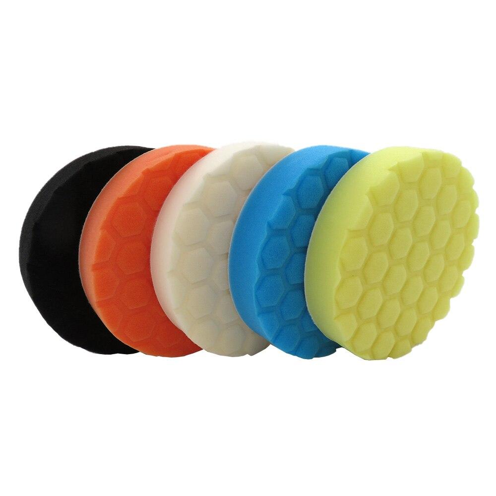 cera lustrando pad kit 6 polegada 5 pcs set almofada de lustro da esponja composto de