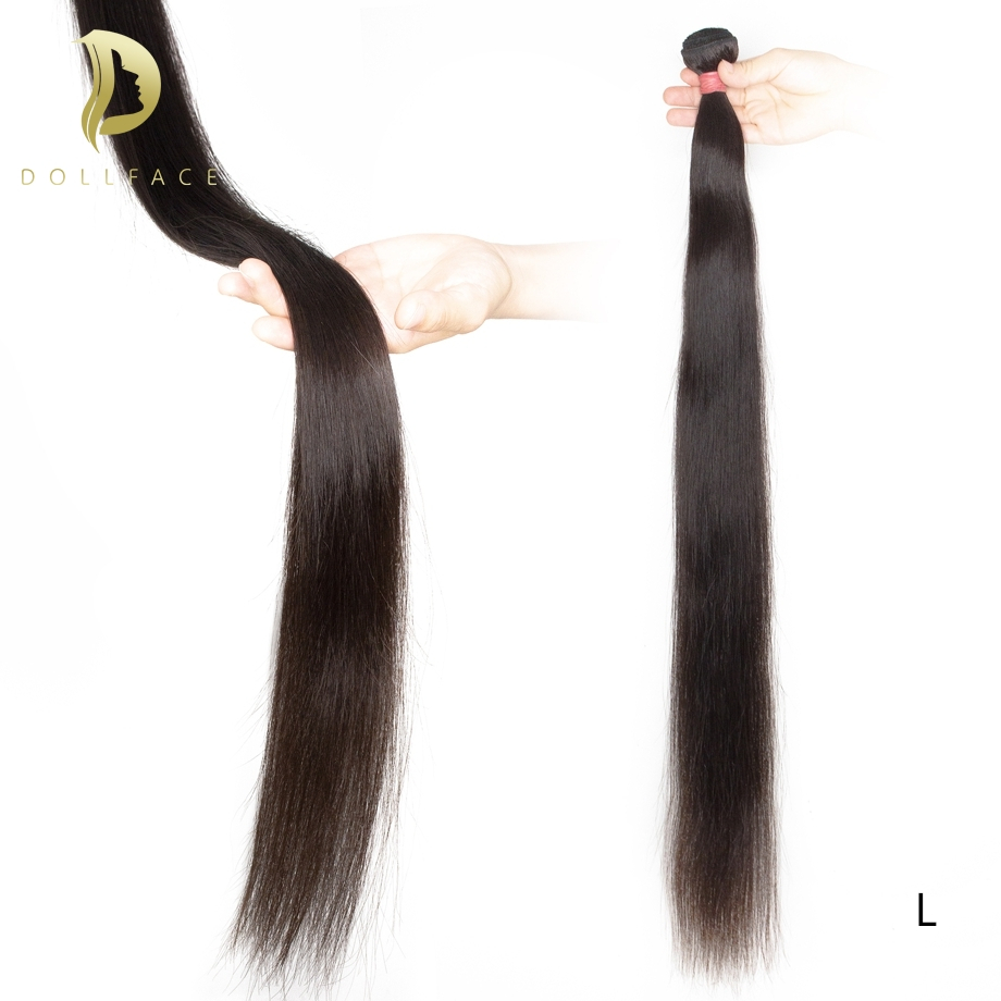 Brazilian Hair Weave Bundles 30 40 Inch Short Long Human Hair Bundles Non-remy Natural Straight Hair Extensions Vendors