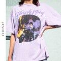 Yedinas Vintage Graphic Tee Weibliche Übergroßen T-Shirt Punk Frauen Harajuku T Shirts Ästhetischen Y2k Top Für Mädchen Baumwolle Weiß T