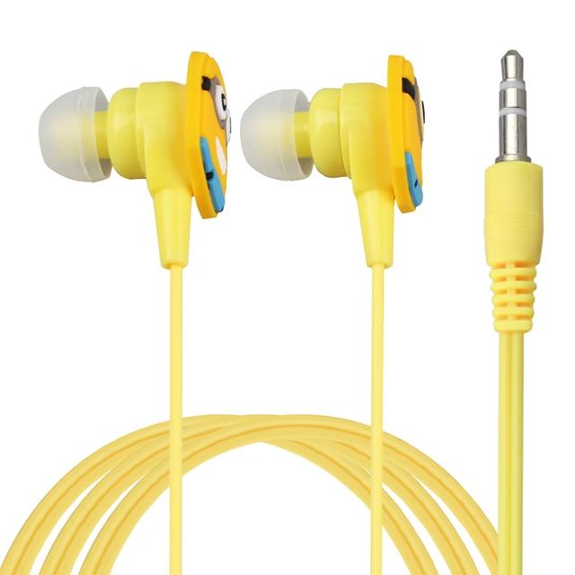 Fone De Ouvido Geel Man Despicable Me Minions In-Ear Wired 3.5 MM Koptelefoon voor MP3 MP4 5 PC Mobiele Telefoon headset met Oordopjes
