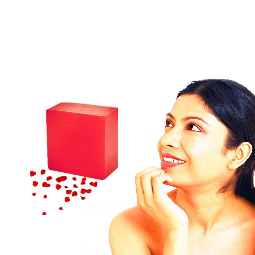 Hand Soap Herbal Medicine Handmade Red Wine Collagen Vitamin C Skin Whitening Bathing Rose Soap Bleaching Agents Acne Soap 100g