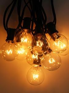 Light Garland Bulbs Globe G40 Christmas-String Tree Fairy Wedding Party Vintage Outdoor