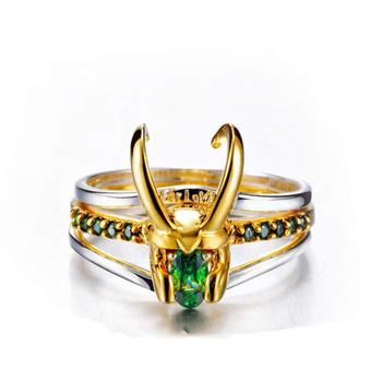Loki Ring Thor Loki Helmet Matching Rings Set For Women Men Super Hero Cosplay Props Jewelry Trend Charm Gifts New 2021 KBR003 1