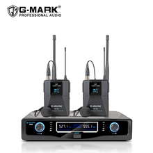 Wireless Lavalier Microphone G MARK G120 Fixed Frequency With Bodypack Clip on Mic For Show Stage Party Church