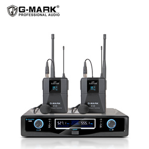 Image 1 - Wireless Lavalier Microphone G MARK G120 Fixed Frequency With Bodypack Clip on Mic For Show Stage Party Church