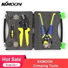 KKmoon Herramienta de prensado multifuncional, pelacables profesionales, Terminal de ingeniería, alicates de trinquete, cortador