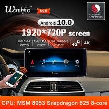 Android 10 rádio do carro snapdragon 4g 64g 8 núcleo para mercedes benz c classe c-classe w204 s204 2011-2014 navegação estéreo de áudio automático