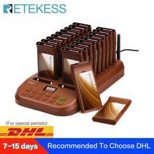 Retekess T116 Restaurant téléavertisseur sans fil système de téléavertisseur système de file dattente Service client téléavertisseur pour Restaurant église café magasin