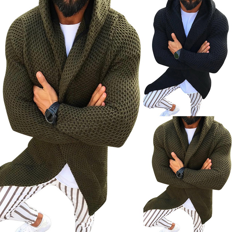 MJARTORIA Men Cardigan Long Sleeve Sweater Coat With Pocket 2019 New Fashion Winter And Autumn Casual Solid Color Cardigans Pull