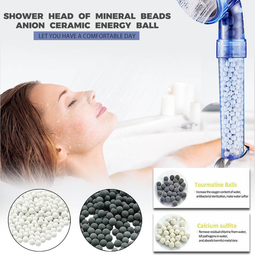 Shower Head Replacement Beads Water Purification Mineral Beads Negative Ions Ceramic Balls for Filter Shower Head Spray(China)