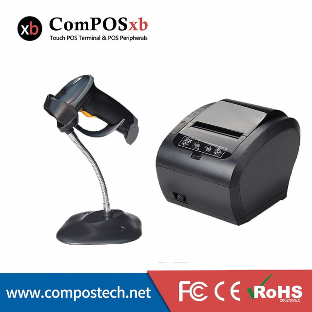 Lecteur de codes-barres BC2809 avec imprimante thermique de couleur blanche, 80mm, livraison gratuite 1