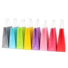 Bolsas de papel de regalo de 20 piezas con asas, bolsas de embalaje de regalo Kraft, fiesta de Festival, boda
