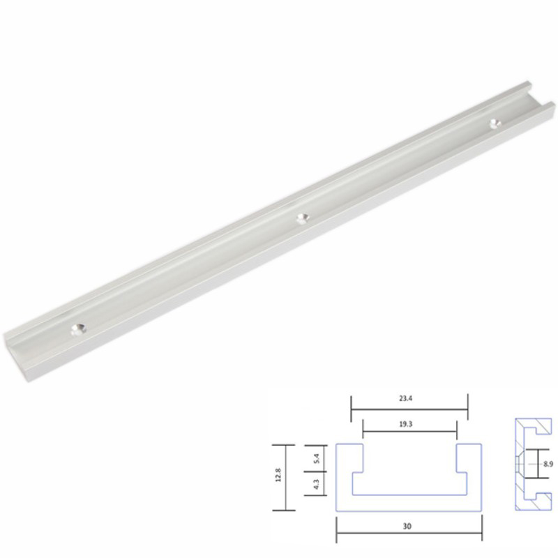 300/400/500/600/800/1000mm Standard Aluminium T-track,Miter Track/Slot For Router Table Woodworking DIY Tool