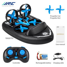JJRC H36F Terzetto 1/20 2.4G 3 In 1 RC Voertuig Vliegende Drone Land Rijden Boot RTR Model RC Tiny gift Present Kid Speelgoed