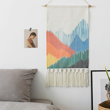 Mountain Tapestry Wall Hanging Woven Tapestry Art  Wall Carpets Tapestry Hanging Wall Tapestries Bohemian Macrame Tapestry wall hanging art decor corroded wall print tapestry