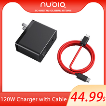 New Original Nubia 120W GaN Quick charger 120W GaN charger For Nubia RedMagic 6/6pro 120W Fast Charger With 6A Cable