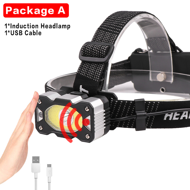 LEAQU Mini Headlamp Flashlight Upper and Lower 180 Degrees ...