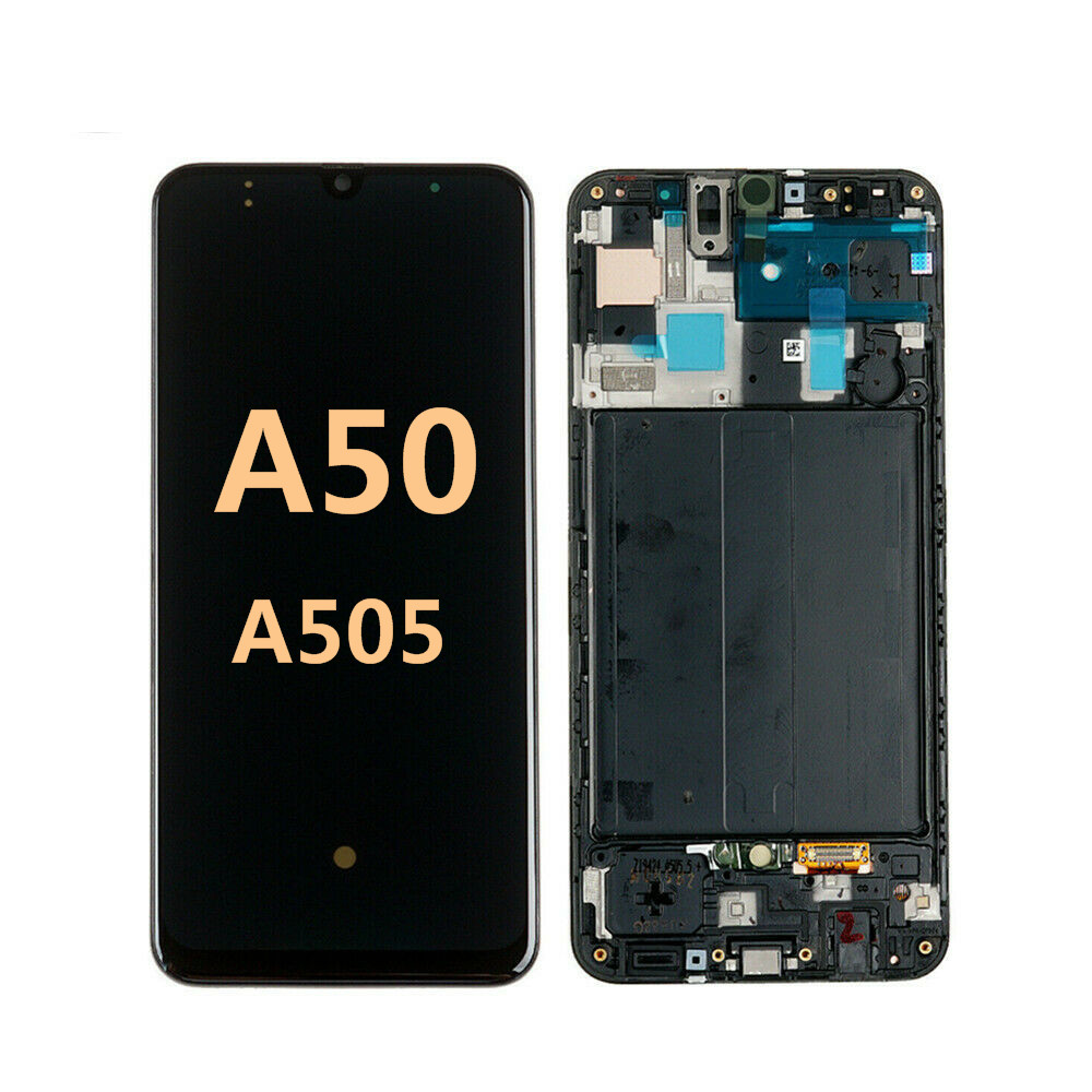 100% Original Quality For Samsung Galaxy A50 A505 LCD Display Touch Screen Digitizer Assembly With Frame For Samsung A50 lcd image
